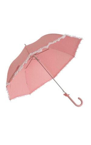 różowa parasolka z falbankami