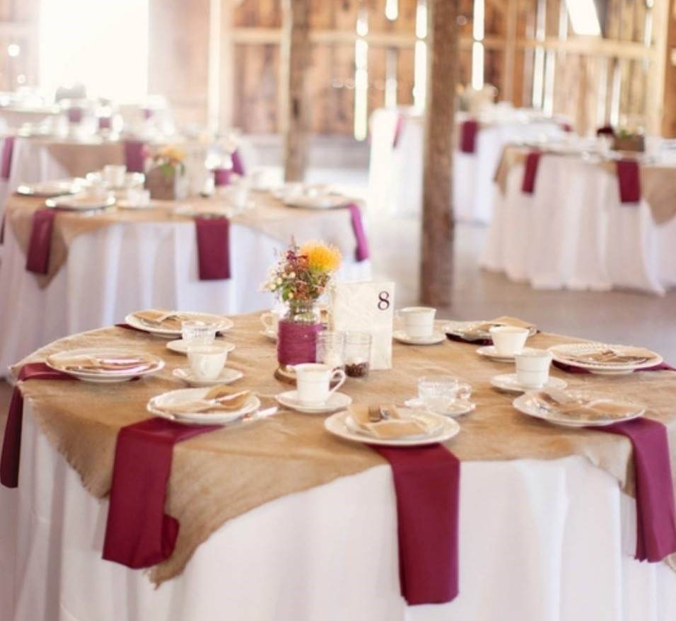 Serwetki Weselne Bordowe Wypożyczalnia Dekoracji ślubnych