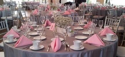 Serwetki Weselne Różowe Wypożyczalnia Dekoracji ślubnych