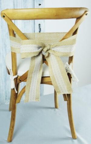 dekoracje krzeseł z juty