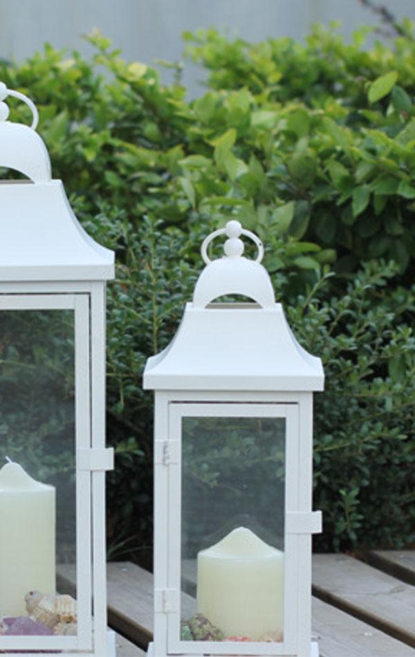 Lampiony Białe średnie