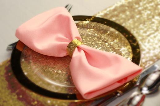 serwetki na stoły weselne