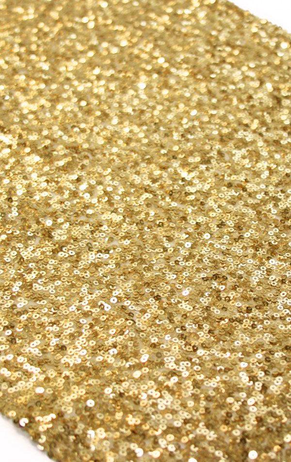 cekinowe bieżniki w kolorze złota