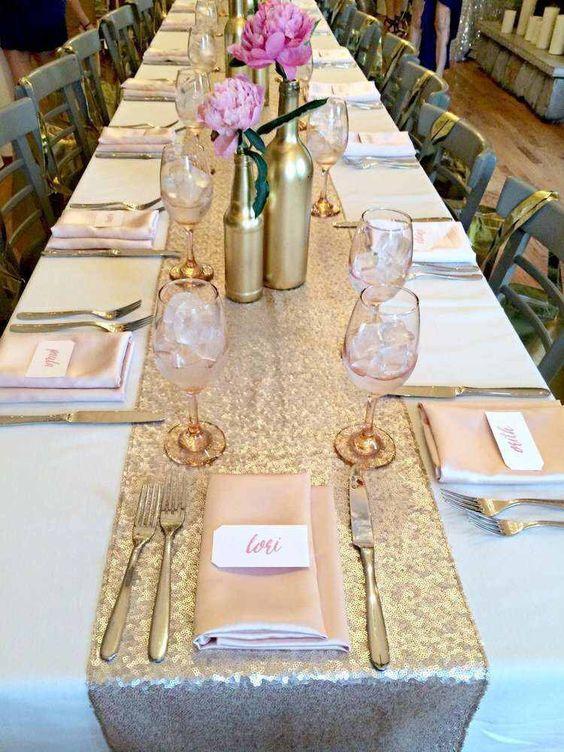 cekiny na stoły ślubne