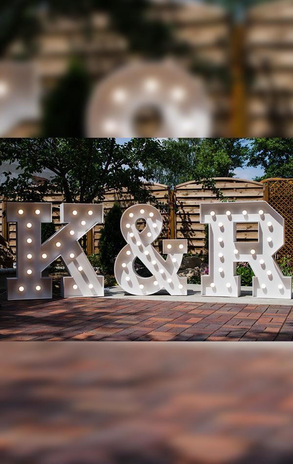 świetlne Inicjały Wypożyczalnia Dekoracji ślubnych