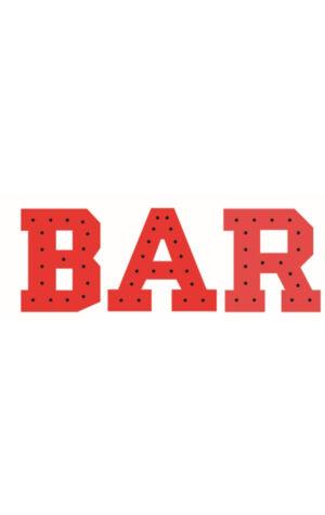 napis świetlny bar