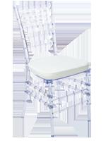 transparentne krzesła wynajem