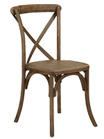 krzesła cross rustykalne