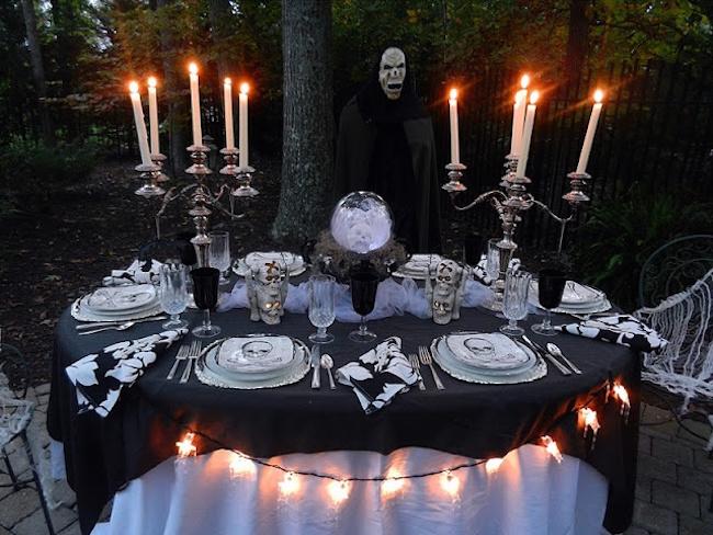 dekoracje stołów w stylu halloween