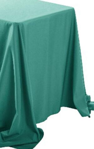 obrus prostokątny w kolorze zielonym