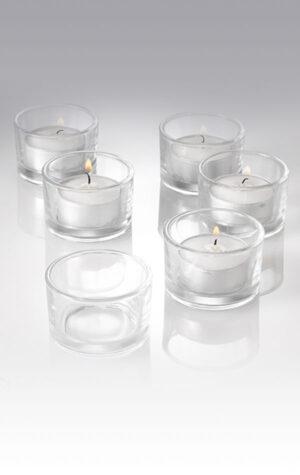 wypożyczalnia szklanych świeczników