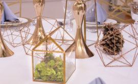 zimowe dekoracje stołów weselnych