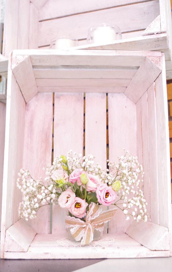skrzynki dekoracyjne białe