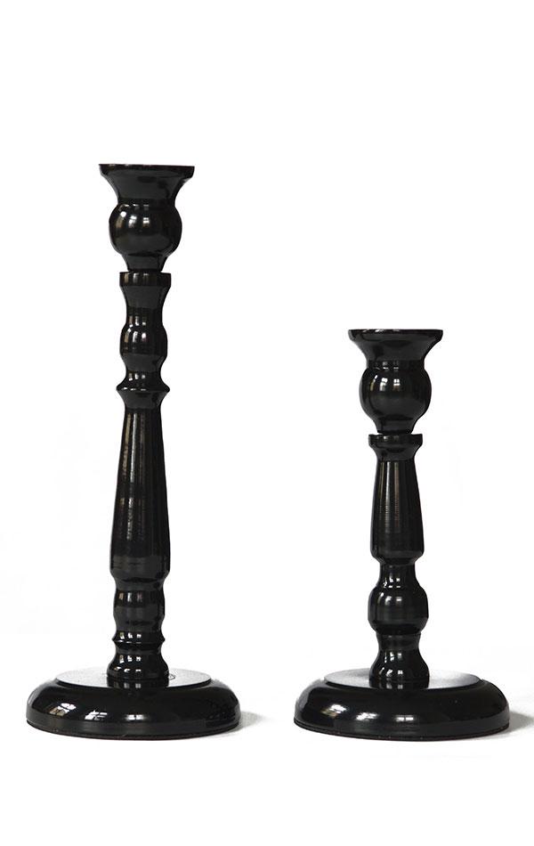 Wysokie świeczniki czarne