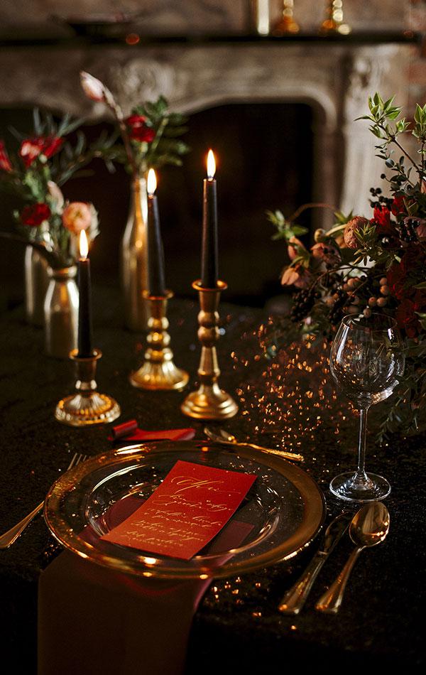 złote świeczniki